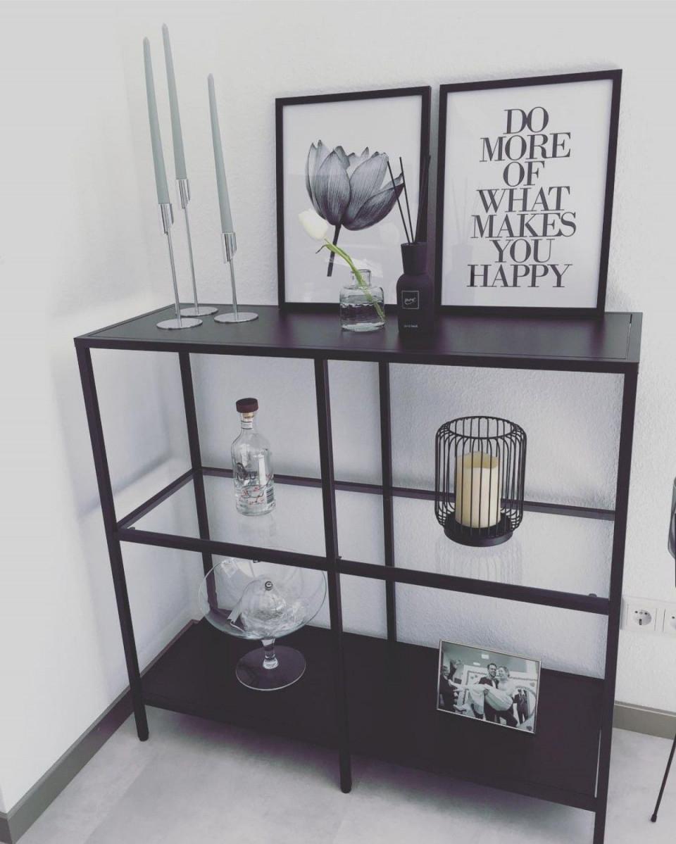Vittsjö Ikea Idee Zum Dekorieren Minimalistisch Schwarz von Schwarze Deko Wohnzimmer Bild