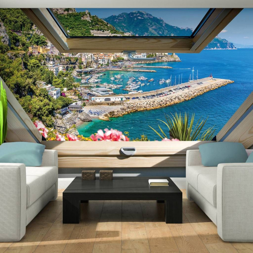 Vlies Fototapeten Fototapete Tapete Italien Wasser Tropen von Italienische Tapeten Wohnzimmer Bild