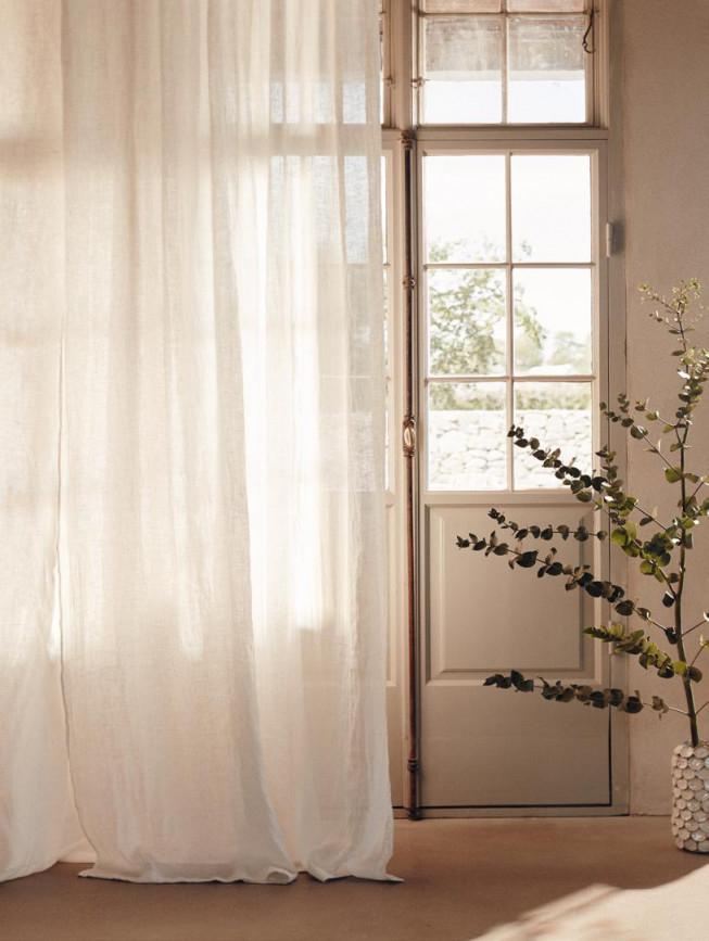 Vorhänge Und Gardinen Im The Linen Cottage von Leichte Gardinen Wohnzimmer Bild