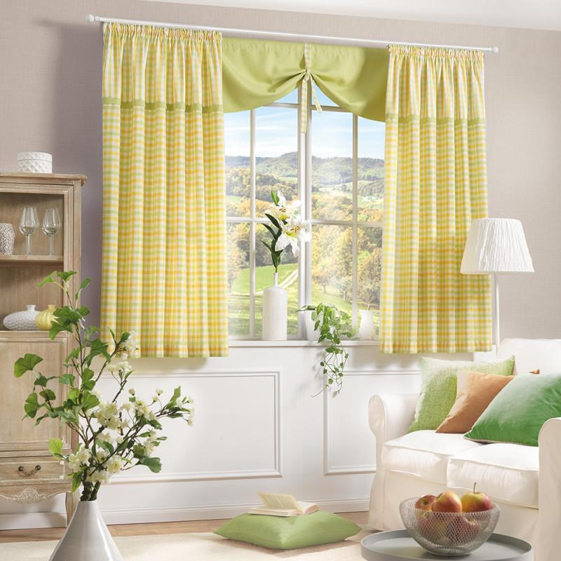 Vorhangkombi Für Ihr Wohnzimmer von Gardinen Querbehang Wohnzimmer Photo