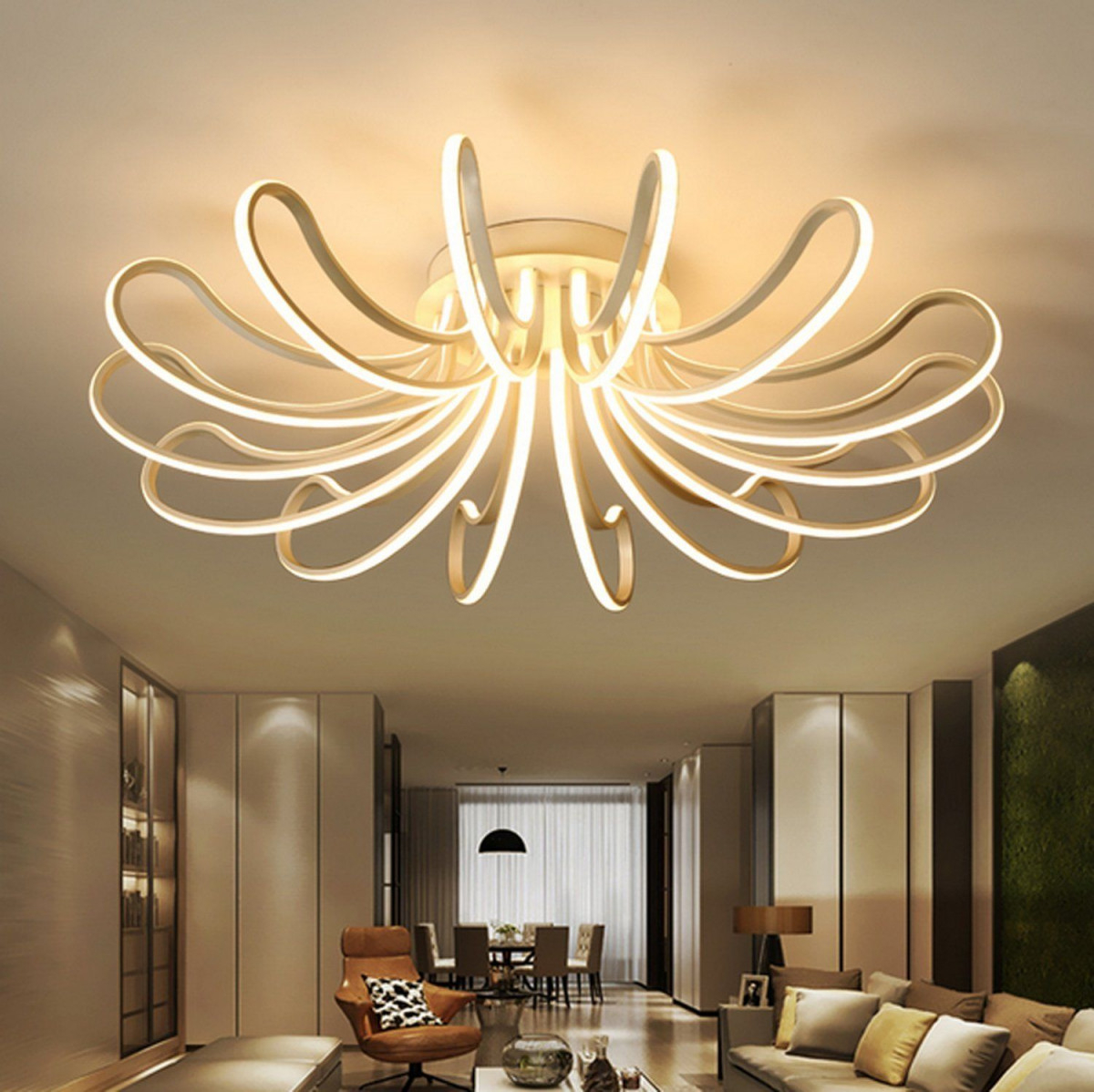 Waineg Designer Moderne Leddeckenleuchten Wohnzimmer von Wohnzimmer Lampe Modern Bild