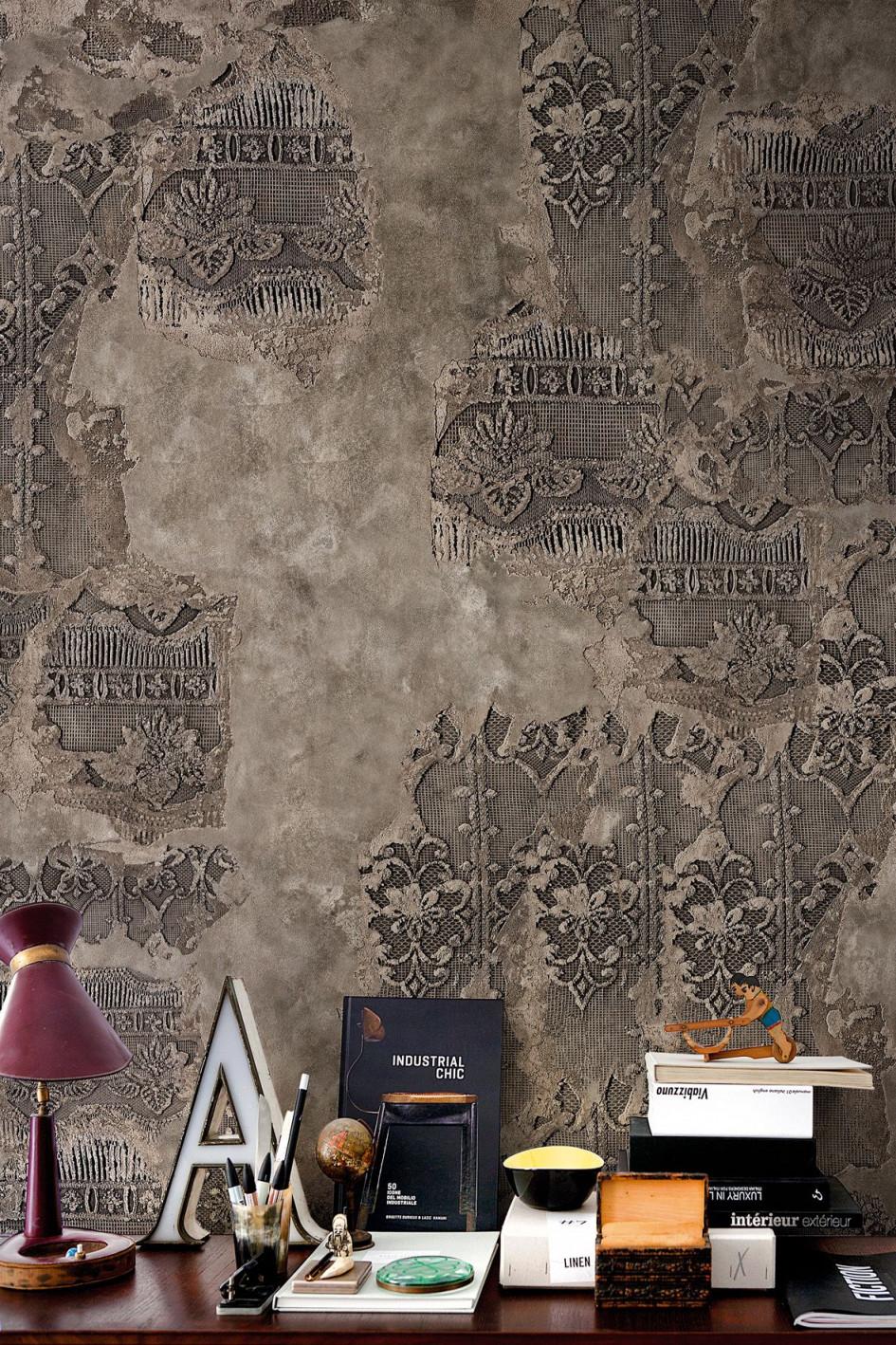 Walldeco Wallpaper Mustertapete Fototapete Italienisches von Italienische Tapeten Wohnzimmer Bild