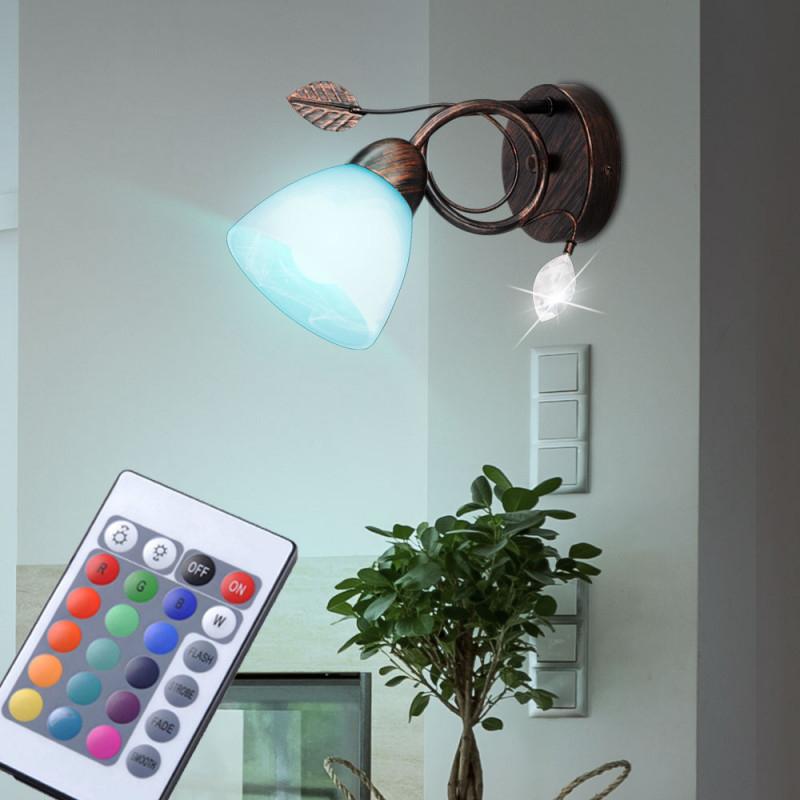 Wand Strahler Fernbedienung Alabasterglas Wohnzimmer Lampe Dimmbar Im Set  Inkl Rgb Led Leuchtmittel von Wohnzimmer Lampe Wand Photo