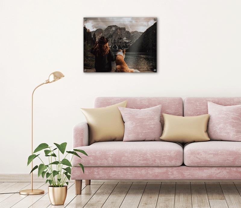 Wandbild Mit Hund Als Fotodruck 40X30 Cm  Gravuru In von Bilder Mehrteilig Wohnzimmer Bild