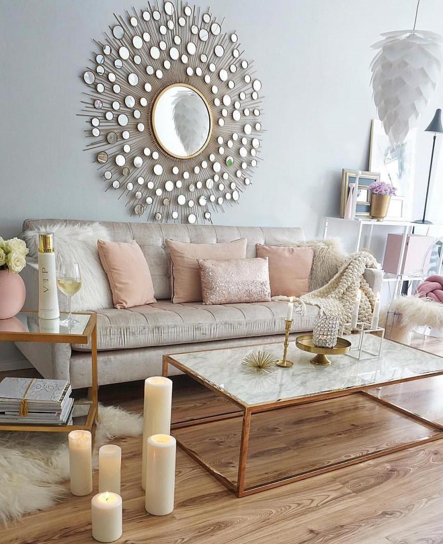 Wanddeko Wohnzimmer Rosegold Easyinterieur On Instagram von Rosegold Deko Wohnzimmer Bild