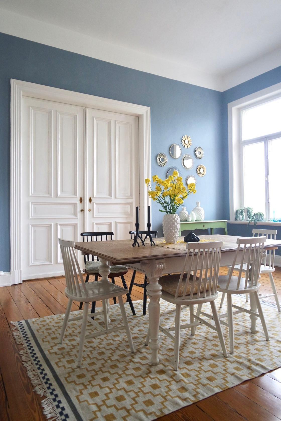 Wandfarbe Blau Und Petrol Die Besten Ideen Für Blautöne von Deko Hellblau Wohnzimmer Bild