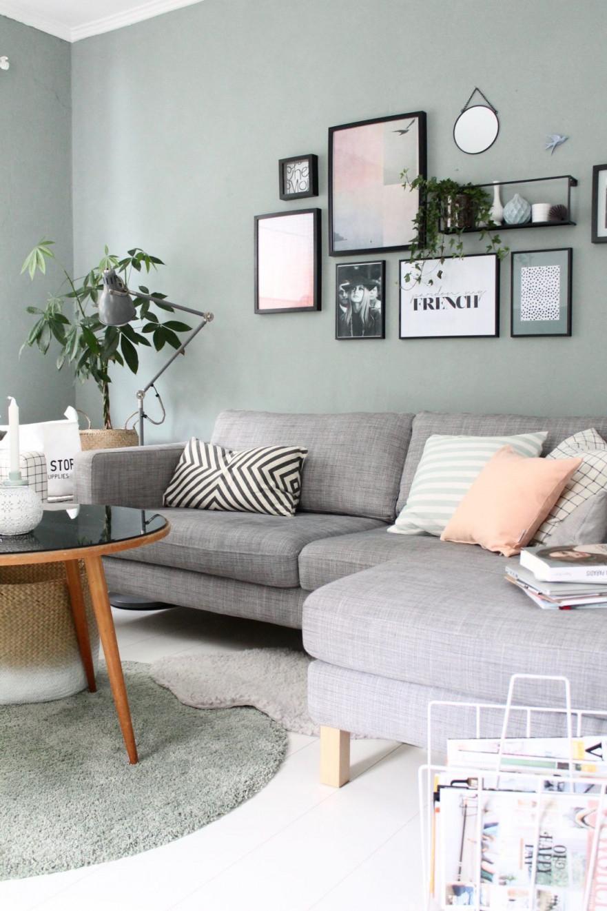 Wandfarbe Wohnzimmer Blau Grau Wandfarbe Wohnzimmer Graue von Bilder Wohnzimmer Grau Bild