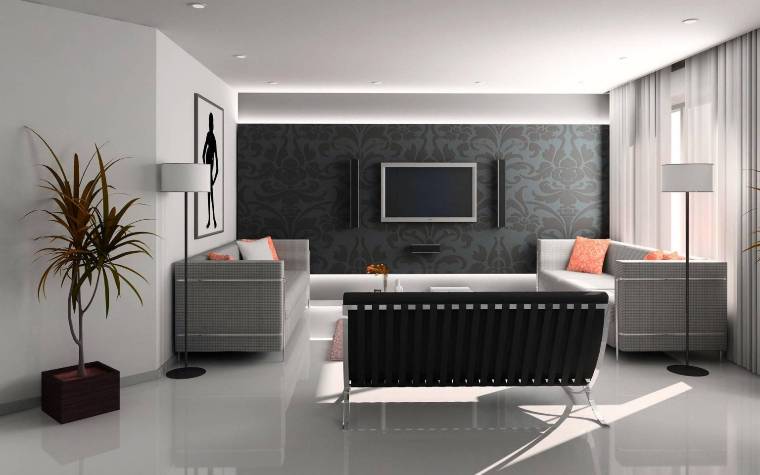 Wandgestaltung Ideen Farbe Wohnzimmer  Schlafzimmer von Farben Ideen Für Wohnzimmer Bild