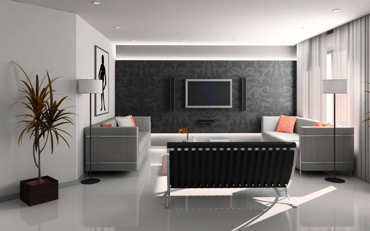 Wandgestaltung Ideen Farbe Wohnzimmer  Schlafzimmer von Wohnzimmer Wände Gestalten Farbe Bild