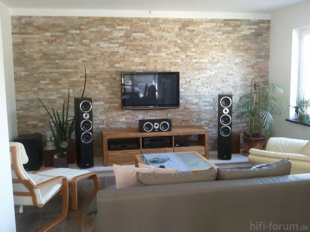 Wandgestaltung Wohnzimmer Altbau  Wohnzimmer Ideen Mit von Wohnzimmer Ideen Mit Steintapete Photo