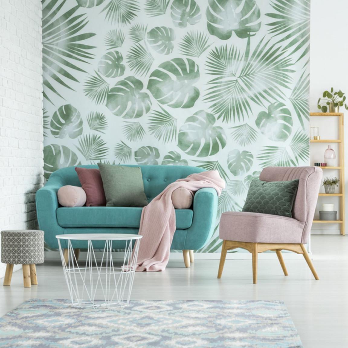 Wandgestaltung Wohnzimmer – Die Schönsten Ideen  Brigitte von Wohnzimmer Ideen Türkis Bild