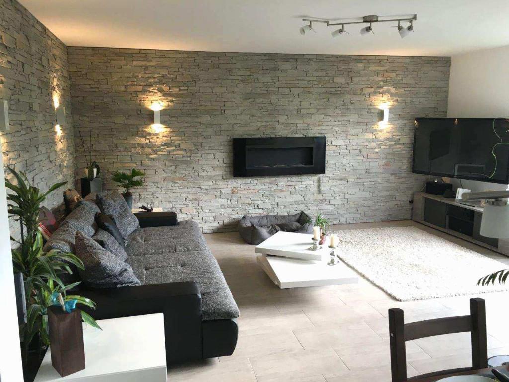 Wandgestaltung Wohnzimmer Steinoptik Schön Das Beste Von von Wände Gestalten Wohnzimmer Bild