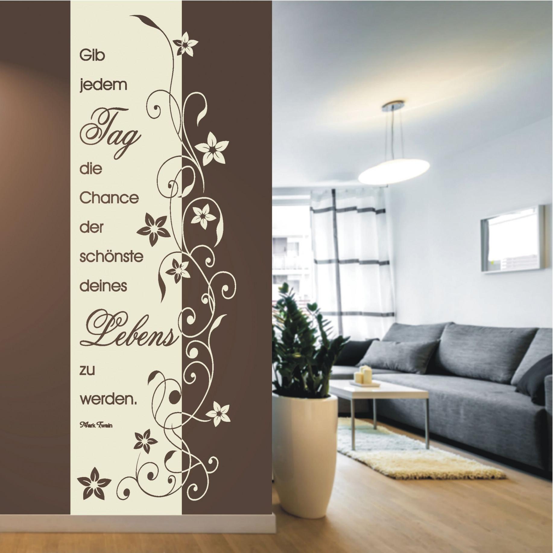 Wandtattoo Banner Tag Chance 715 In 2020 (Mit Bildern von Wandtattoos Wohnzimmer Ideen Bild