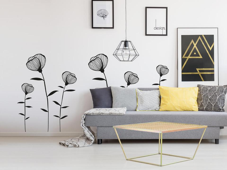 Wandtattoo Blume  Große Motivauswahl  Wandtattoos von Wandtattoos Wohnzimmer Ideen Bild