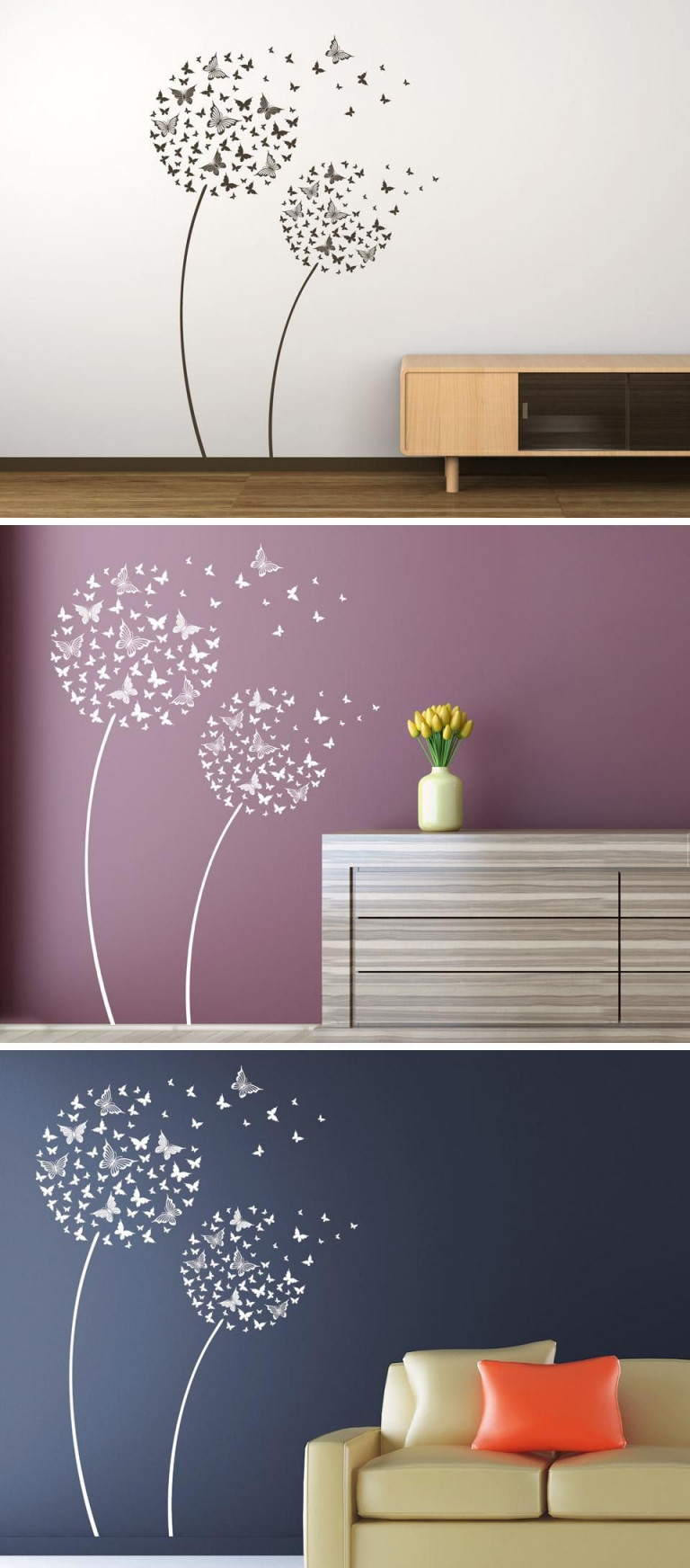 Wandtattoo Schmetterlingsblumen Von Wandtattoo von Wandtattoos Wohnzimmer Ideen Photo