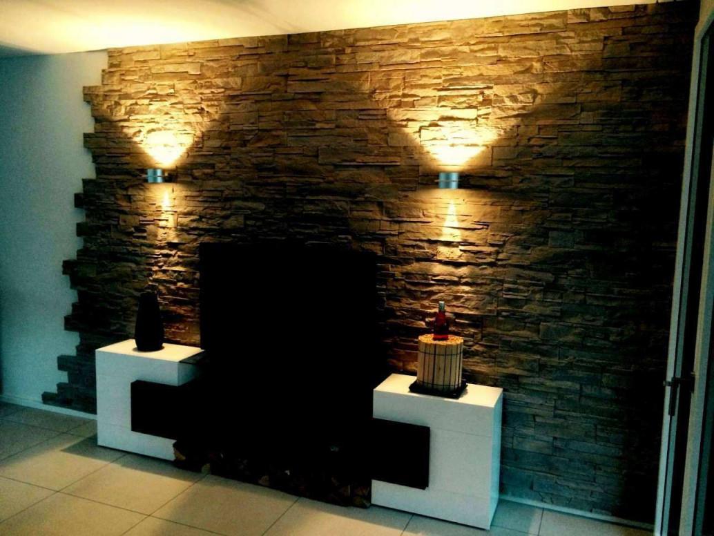 Wandverkleidung Stein Wohnzimmer Elegant Inspirierend von Maler Ideen Wohnzimmer Photo