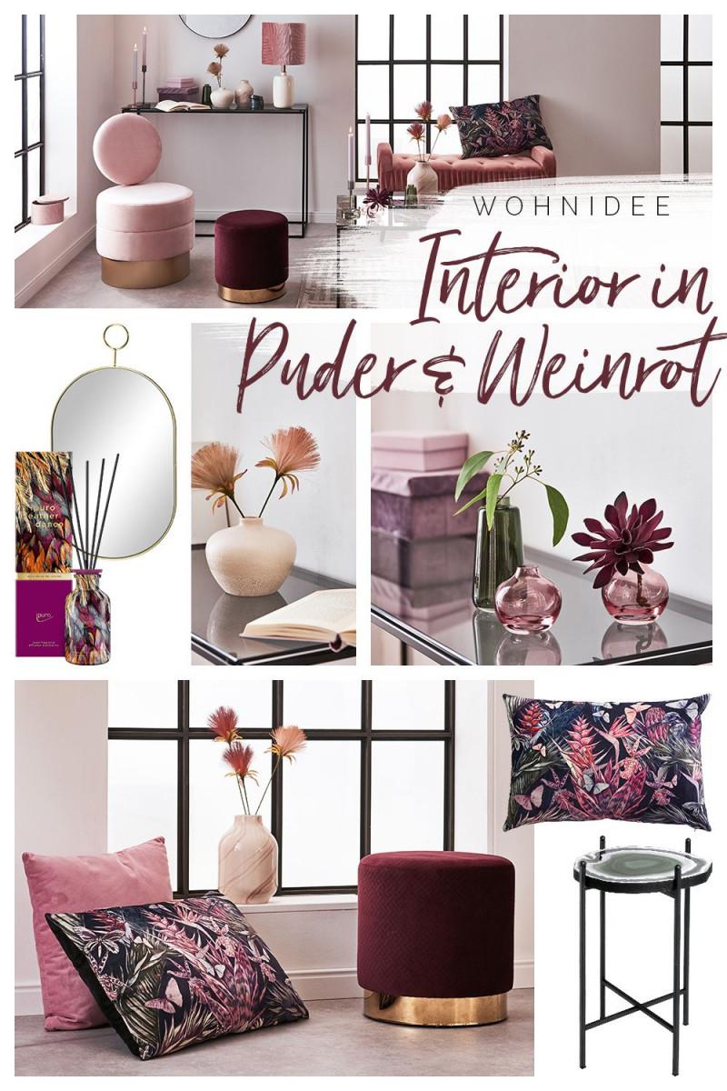 Wäre Das Nicht Auch Gerne Dein Zimmer Puder  Weinrot von Bordeaux Deko Wohnzimmer Bild