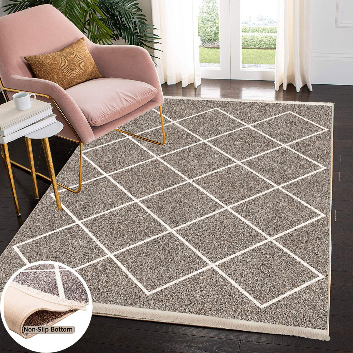 Waschbarer Teppich Wohnzimmer Küche Läufer Flur Teppichläufer  Küchenteppich Teppich Waschbare von Teppich Waschbar Wohnzimmer Bild