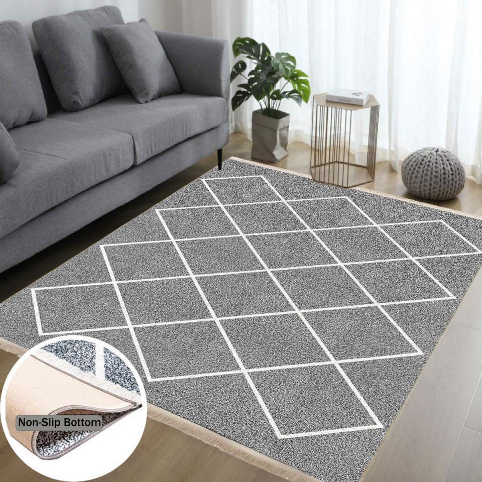 Waschbarer Teppich Wohnzimmer Küche Läufer Flur Teppichläufer  Küchenteppich Teppich Waschbare von Wohnzimmer Teppich Waschbar Bild