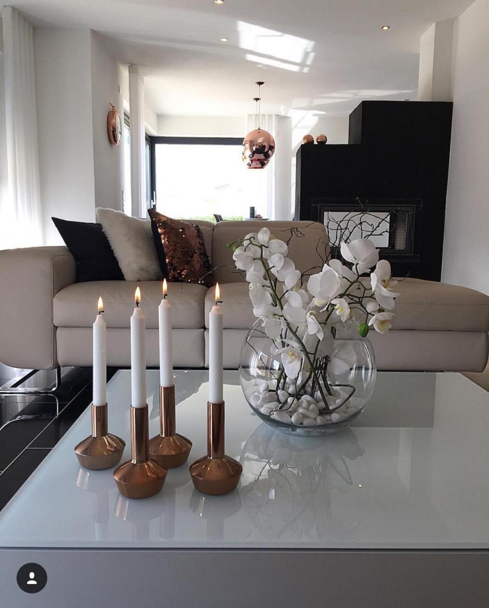 Weißes Wohnzimmer • Bilder  Ideen • Couch von Wohnzimmer Deko Grau Weiß Bild