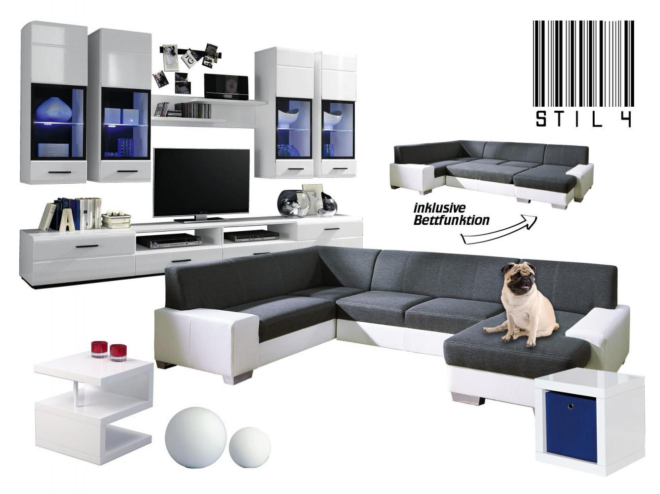 Weißes Wohnzimmer • Bilder  Ideen • Couch von Wohnzimmer Ideen Weiß Bild