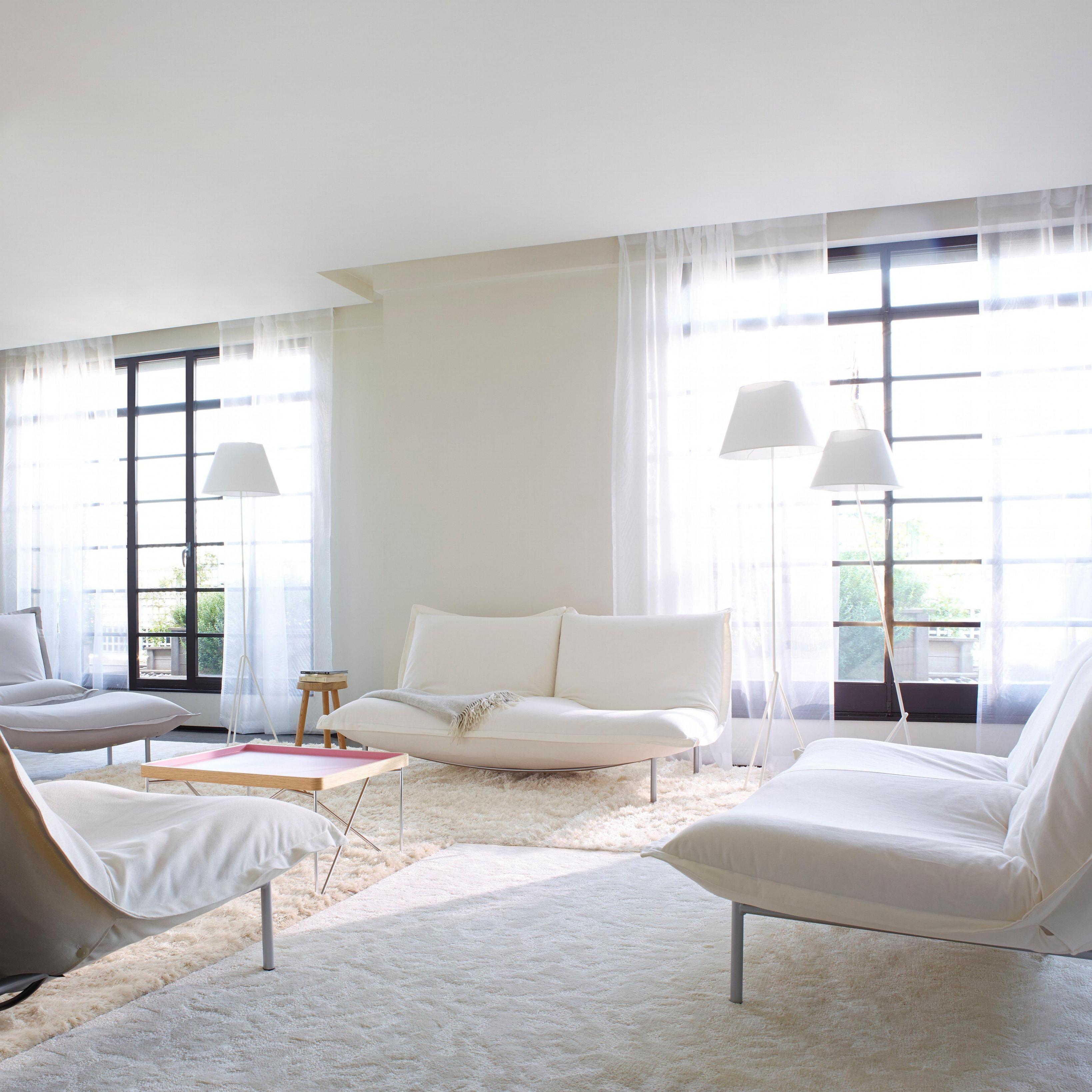 Weißes Wohnzimmer • Bilder  Ideen • Couch von Wohnzimmer In Weiss Gestalten Bild
