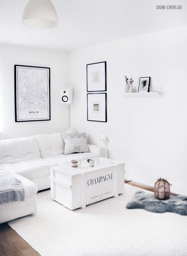 Weisseswohnzimmereinrichtungideenminimalistischmaritim von Wohnzimmer Ideen Minimalistisch Bild