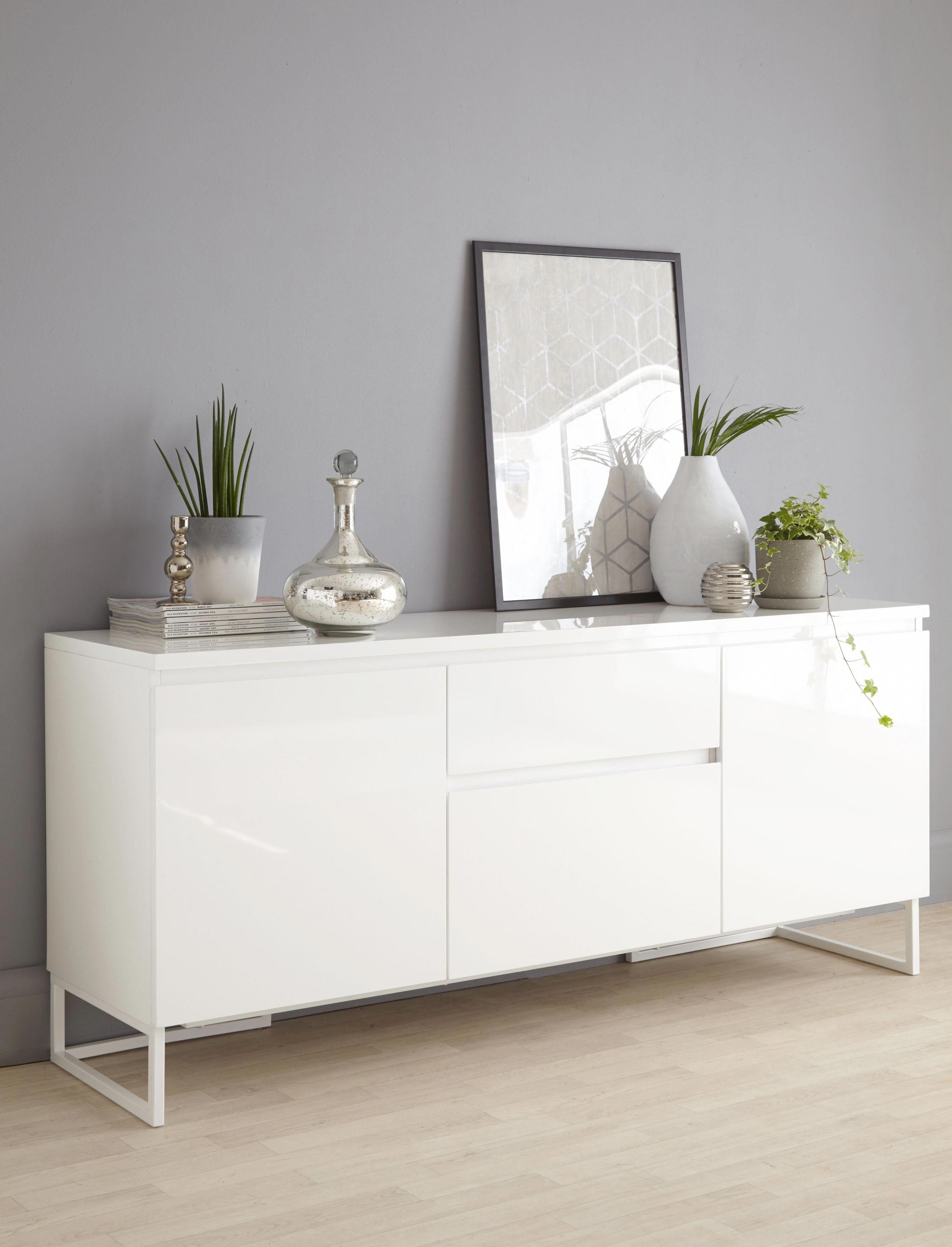 White Gloss Modern Sideboard Livingroomsofaindustrial von Deko Für Sideboard Wohnzimmer Photo