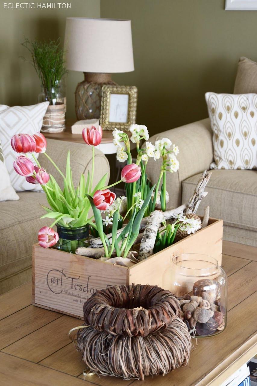Wie Ihr Euch Den Frühling Ins Haus Holt  Mrs Greenery von Frühling Deko Wohnzimmer Photo