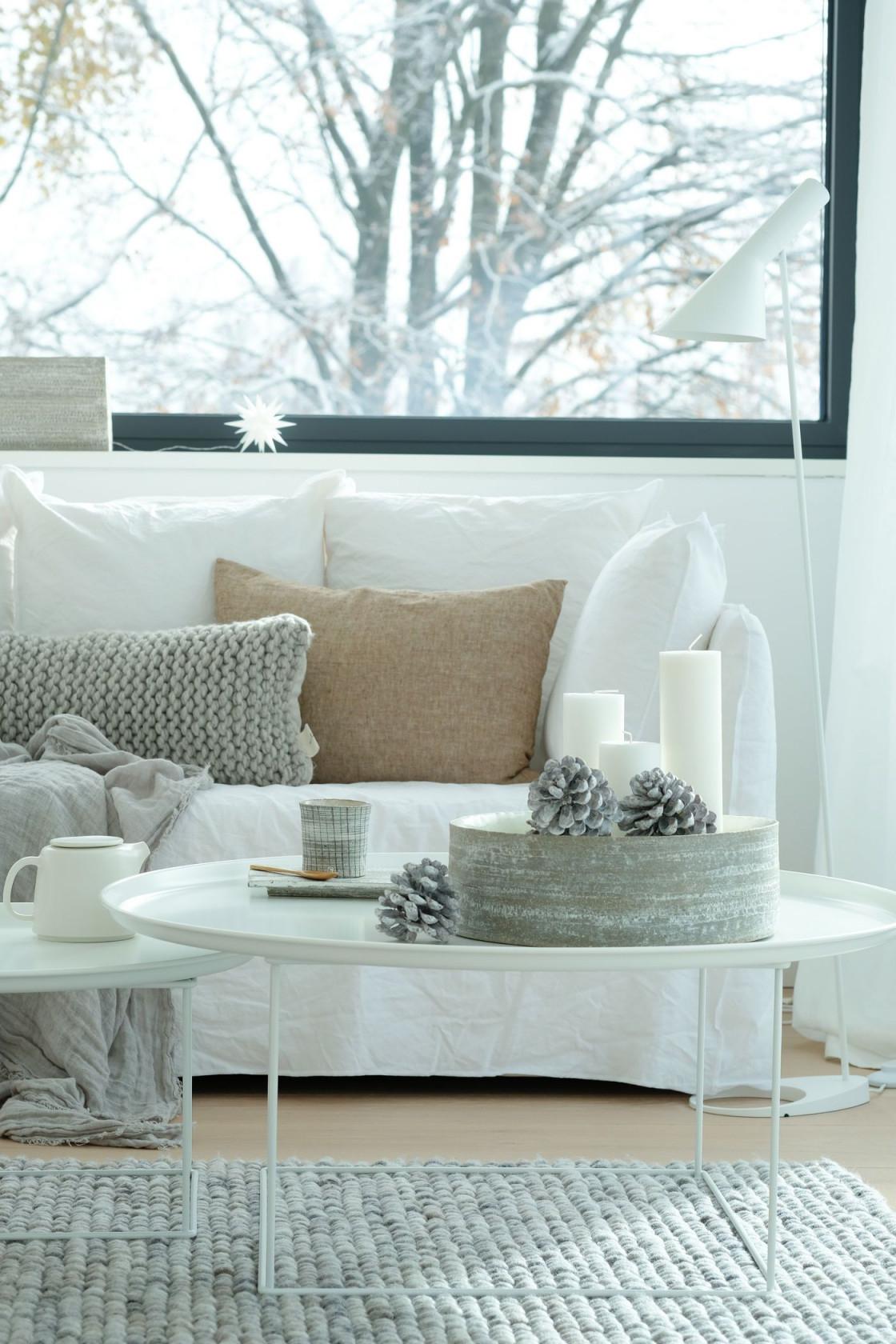 Winterdeko Ideen  Bilder von Winter Deko Wohnzimmer Bild