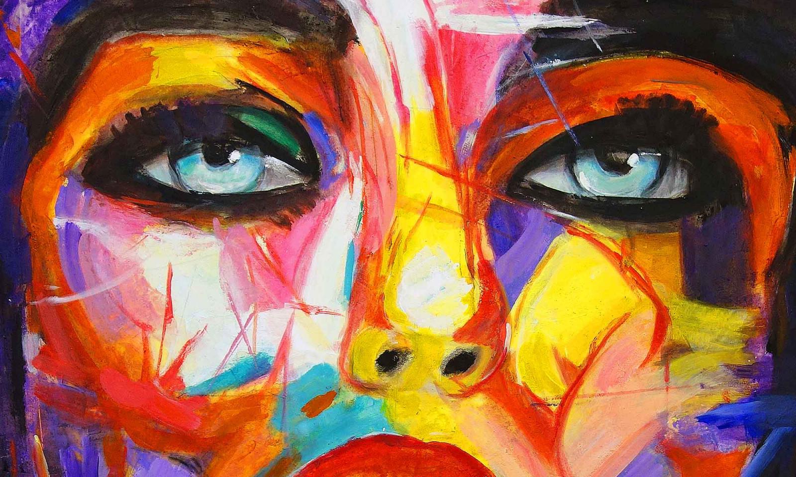 Wohnen Mit Kunst Bildern Echter Malerei  Kunst Für von Bilder Moderne Kunst Wohnzimmer Bild