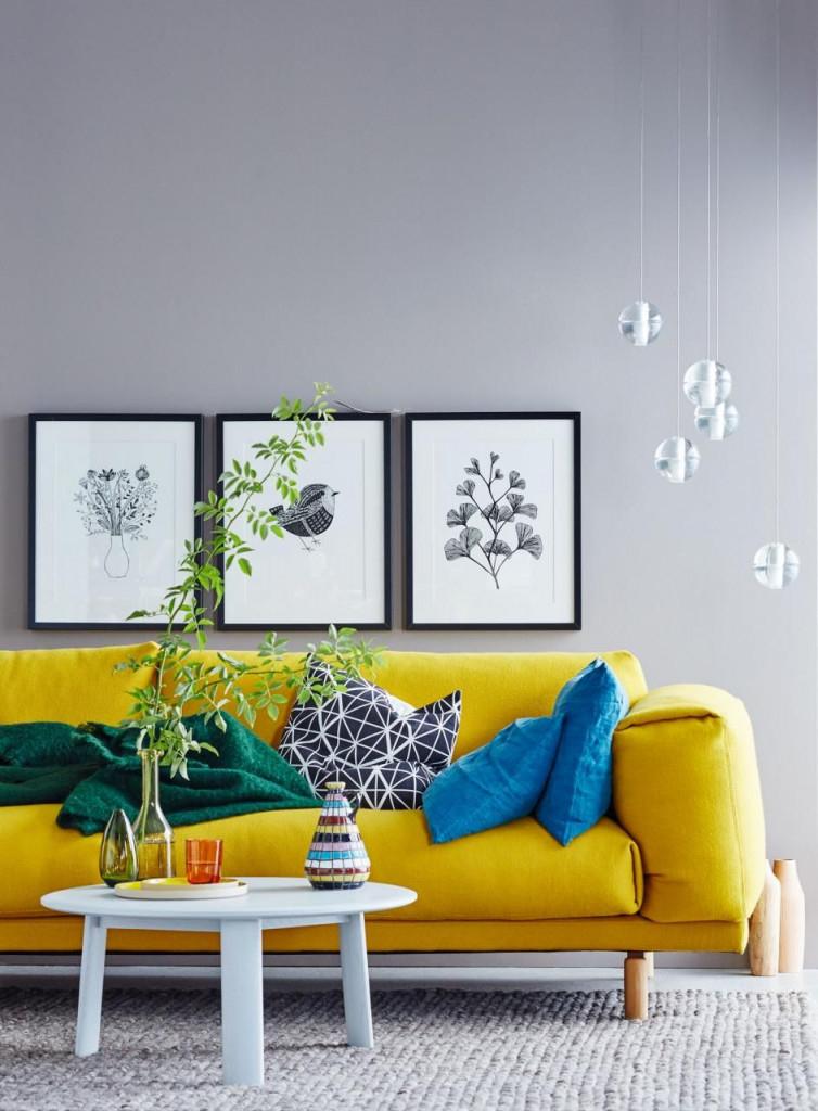 Wohnideen Mit Farben  Einrichten Und Dekorieren Mit Gelb von Deko Gelb Wohnzimmer Photo