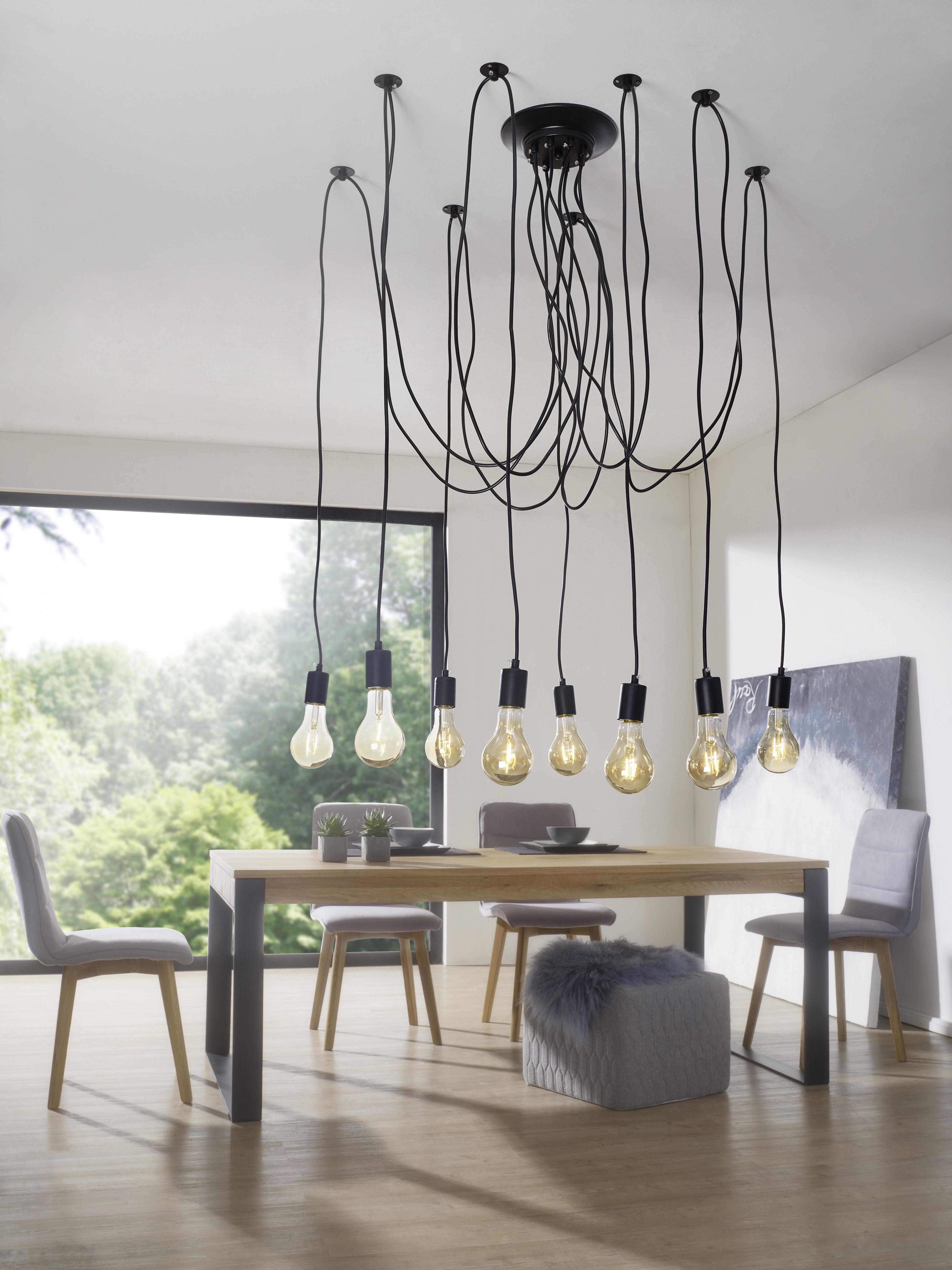 Wohnling Deckenleuchte Lydia Wl3067 Aus Eisen Lamp Black von Deckenlampe Hängend Wohnzimmer Bild