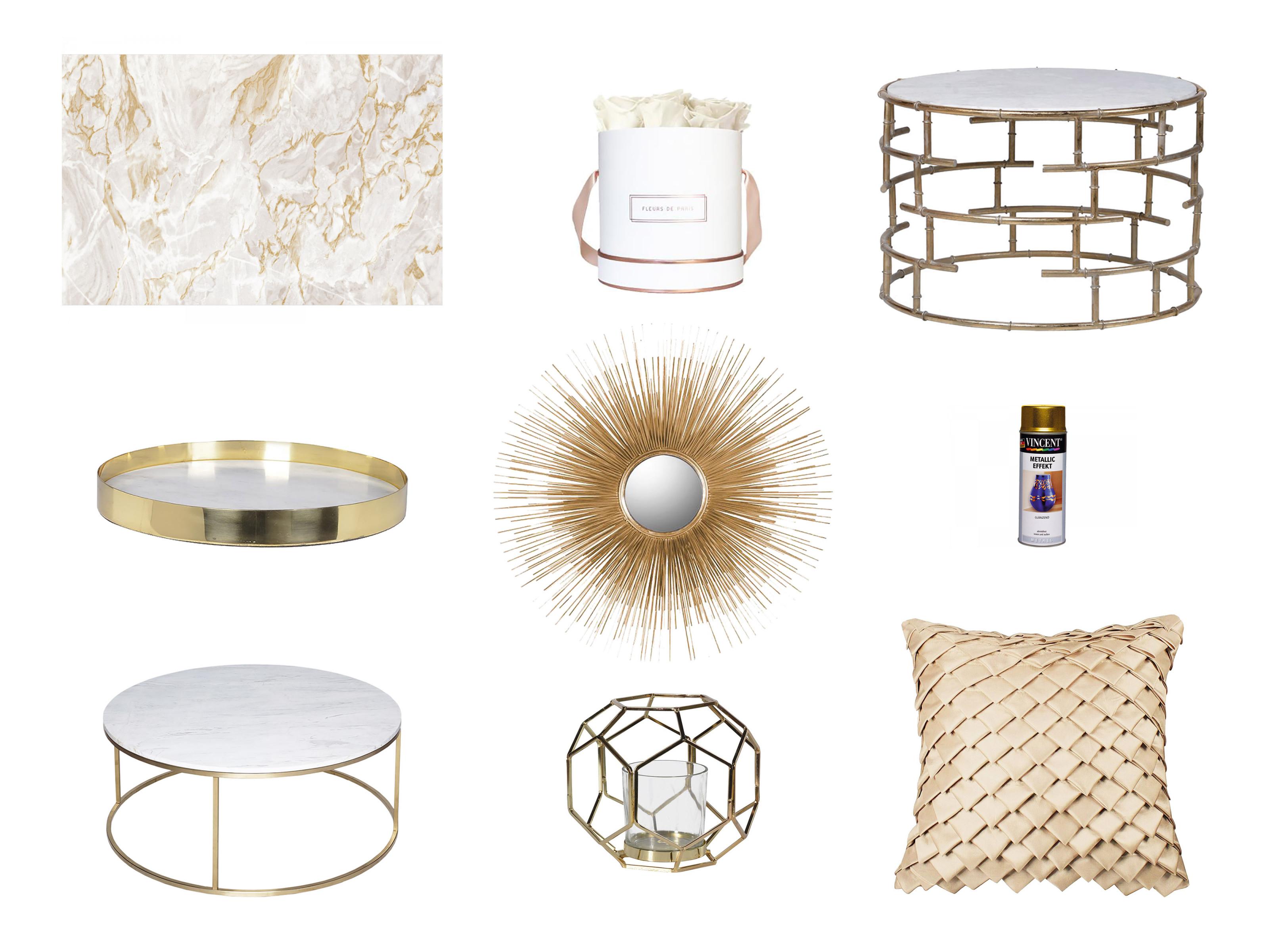 Wohntrend Gold Key Pieces Für Das Wohnzimmer  Adita Kara von Goldene Deko Wohnzimmer Photo