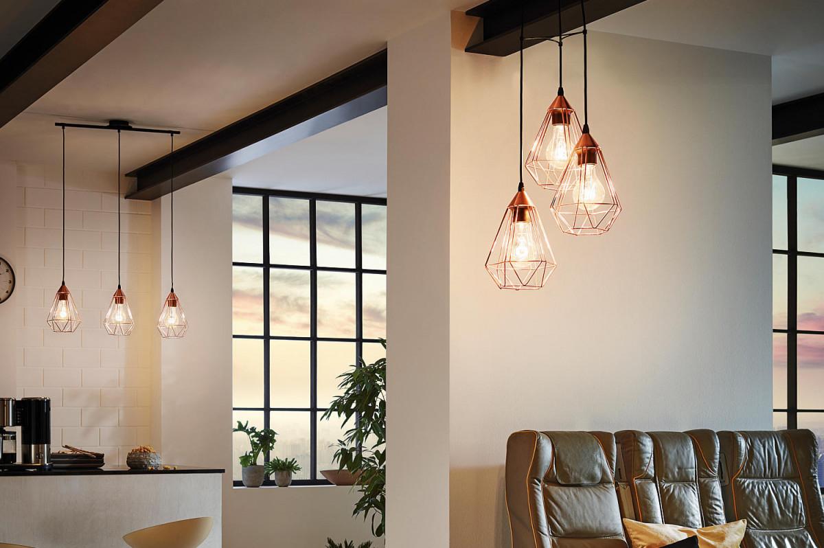 Wohntrend Kupfer  Einrichtungstipps Bei Lampenwelt von Kupfer Lampe Wohnzimmer Bild