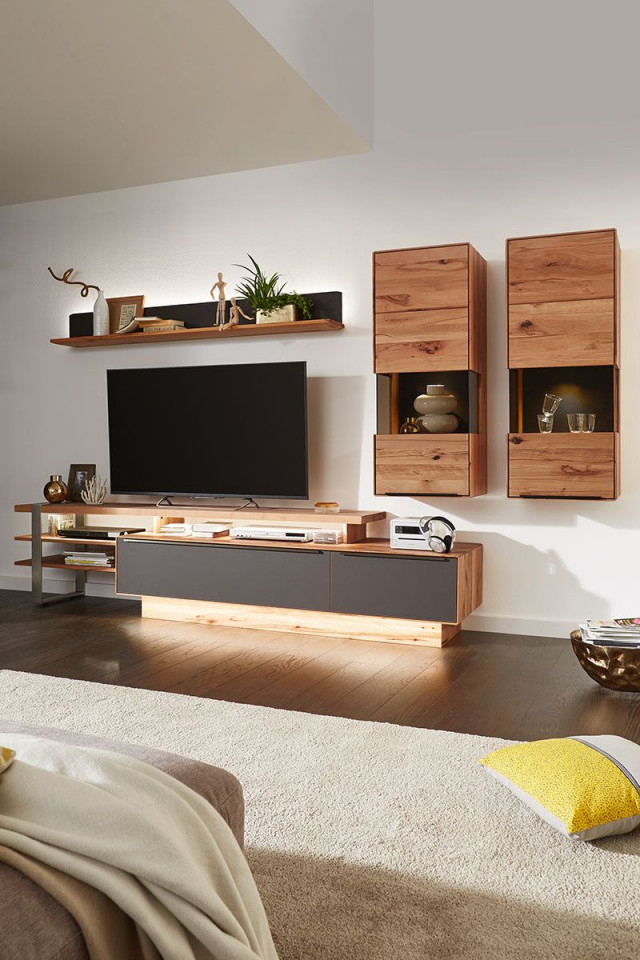 Wohnwand Buche Massiv Valnatura Online Bestellen In 2020 von Wohnwand Gestalten Wohnzimmer Photo