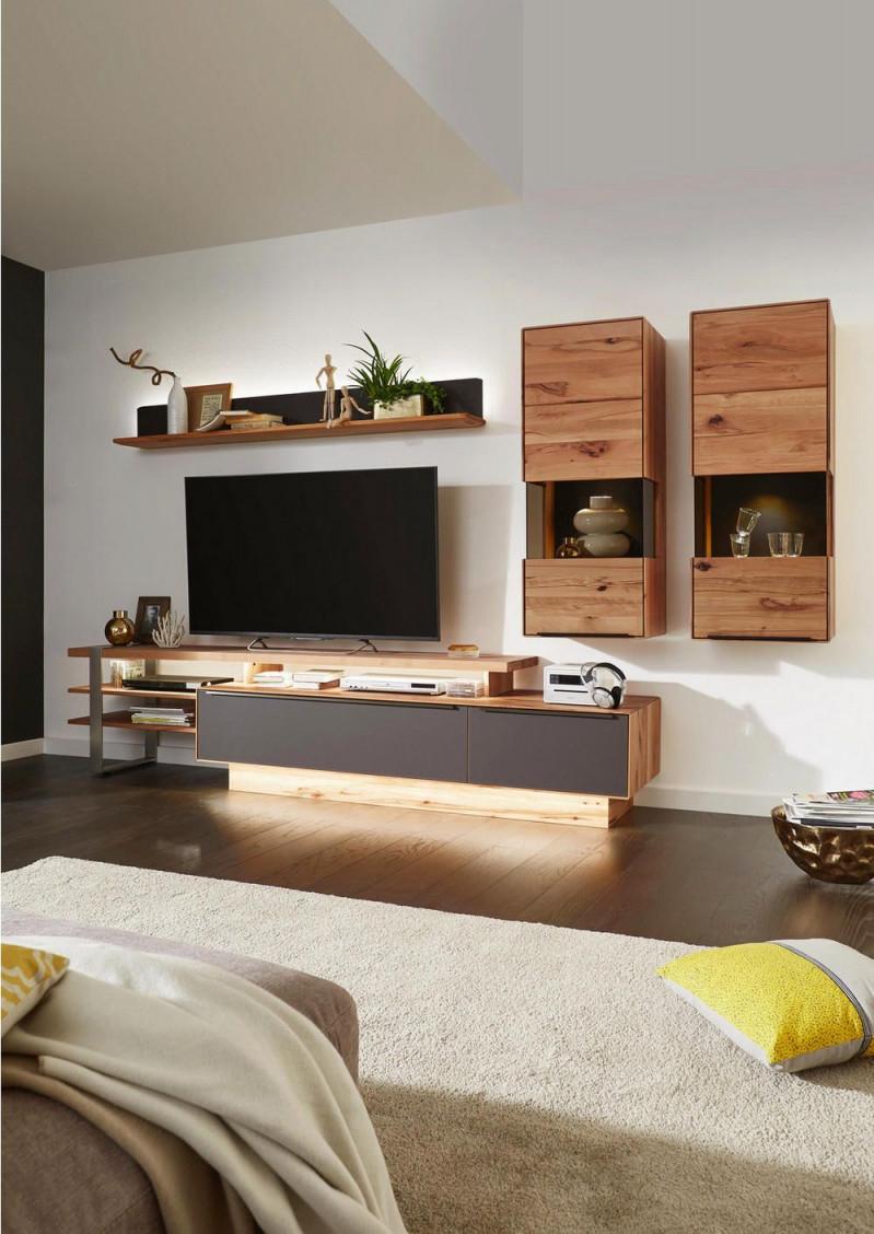 Wohnwand Buche Massiv Valnatura Online Bestellen  Wohnwand von Wohnzimmer Einrichten Holz Photo