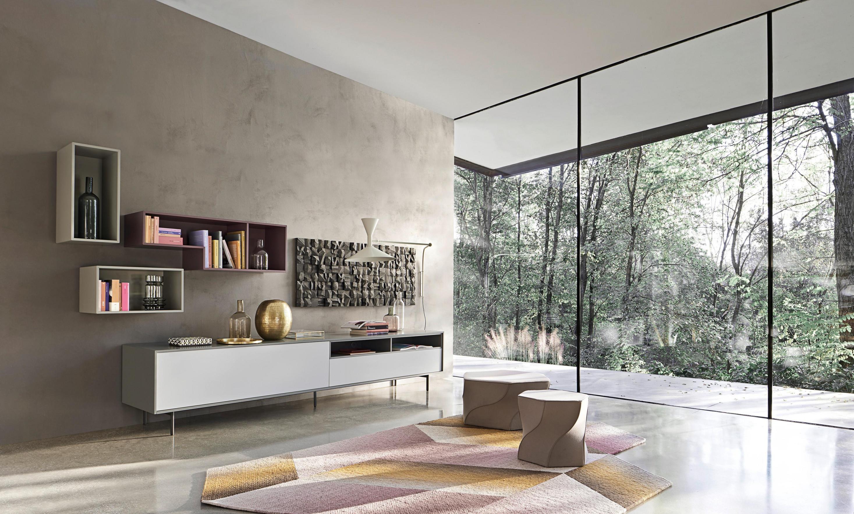 Wohnwand Stauraum Schaffen Mit Ideen Bei Couch von Wohnzimmer Wohnwand Ideen Bild