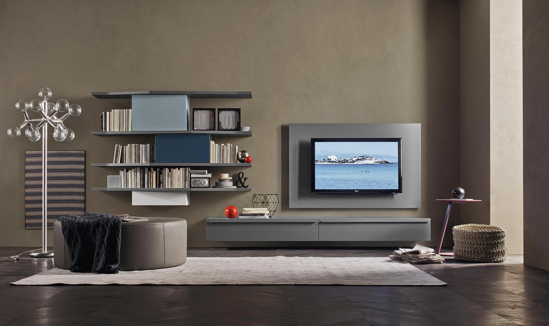 Wohnwand Stauraum Schaffen Mit Ideen Bei Couch von Wohnzimmer Wohnwand Ideen Photo