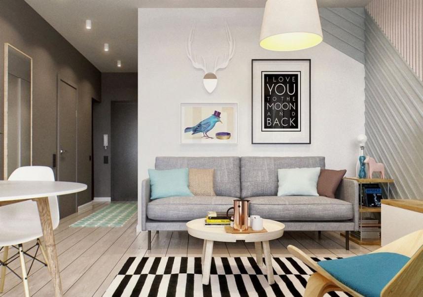 Wohnzimmer 15 Qm Einrichten  Small Living Room Design von Mini Wohnzimmer Einrichten Bild
