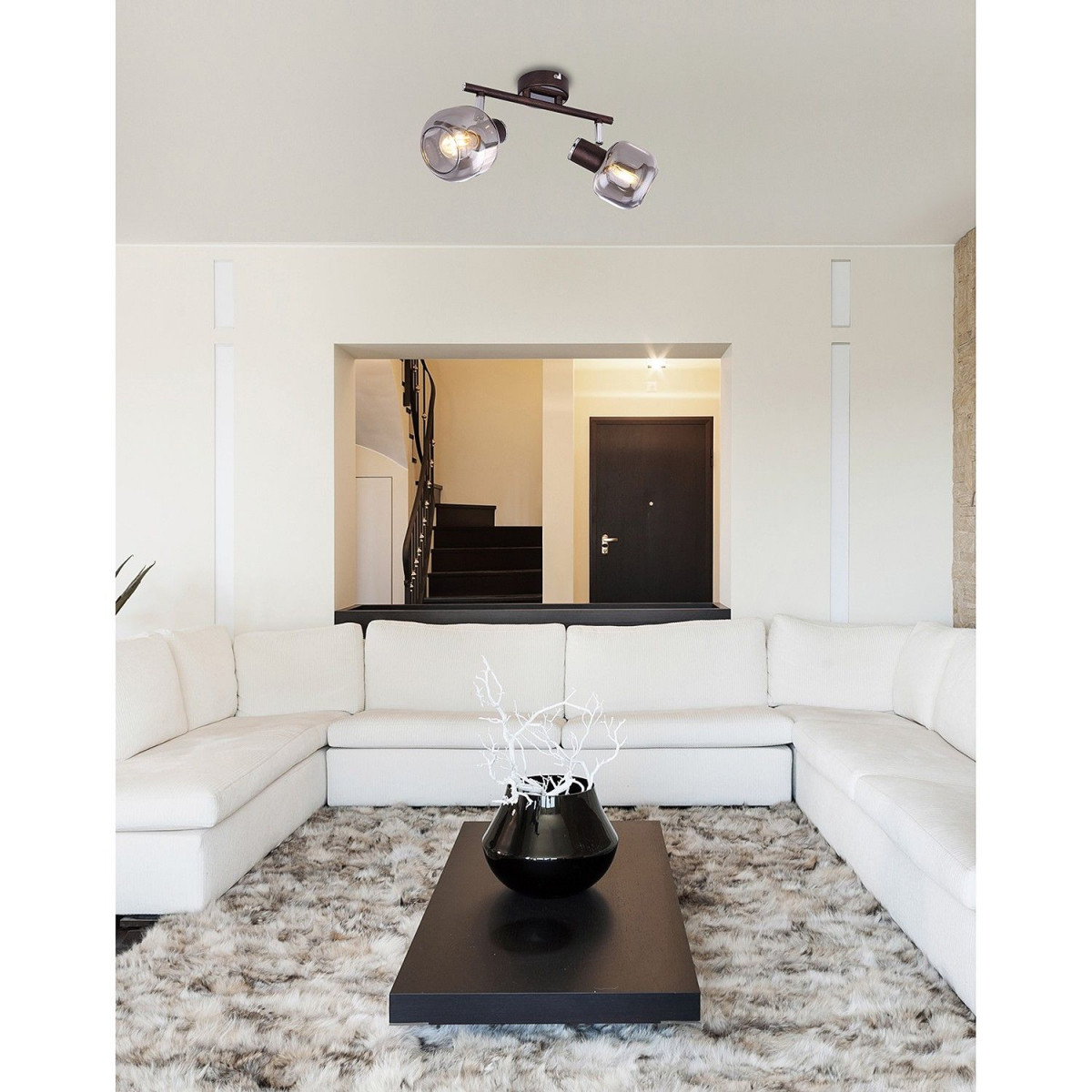 Wohnzimmer Deckenlampe Messing  Deckenlampe Weiß Silber von Wohnzimmer Lampe Messing Photo