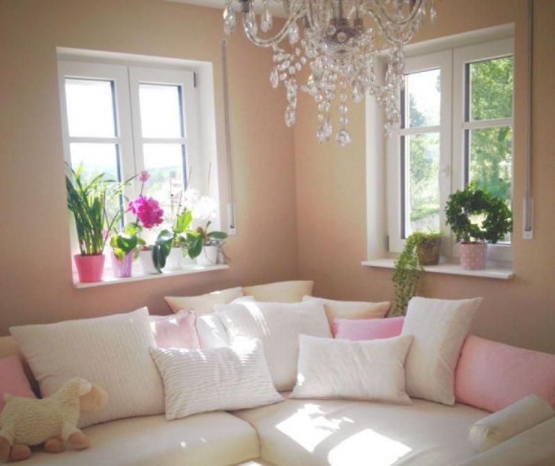 Wohnzimmer Deko Pink  Dekoration Wohnung Schlafzimmer Deko von Wohnzimmer Deko Pink Bild