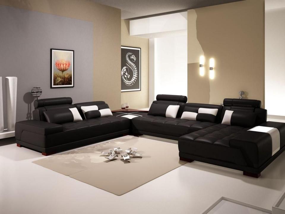 Wohnzimmer Dekor Ideen In Schwarz Und Beige Design Mit Beige von Wohnzimmer Ideen Schwarz Bild