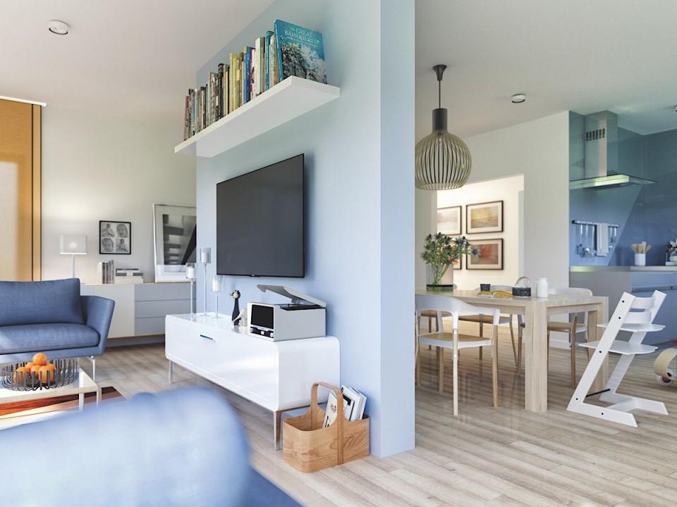 Wohnzimmer  Esszimmer Modern Mit Raumteiler  Haus von Inneneinrichtung Ideen Wohnzimmer Bild
