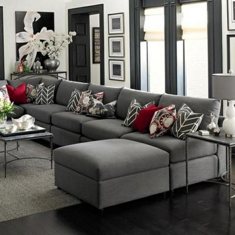 Wohnzimmer Grau Braun Elegantes Wohnzimmer Grau Rote von Deko Wohnzimmer Grau Bild