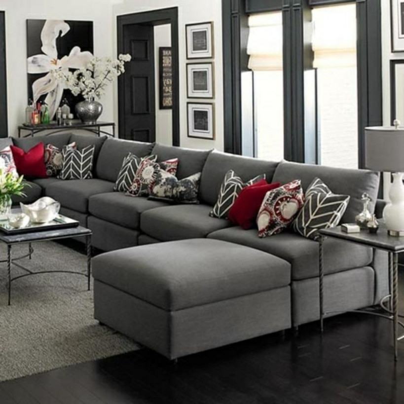 Wohnzimmer Grau Braun Elegantes Wohnzimmer Grau Rote von Elegante Deko Wohnzimmer Bild