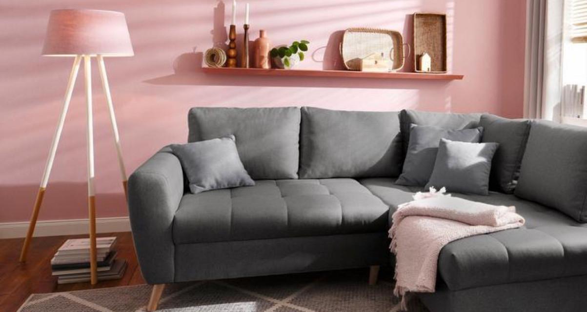 Wohnzimmer Grau  Tipps Und Ideen Für Euer Zuhause  Baur von Wohnzimmer Deko Grau Rosa Bild