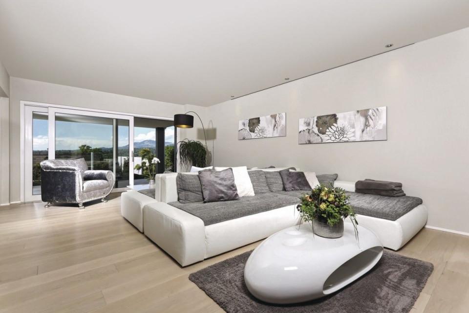 Wohnzimmer Ideen Grau Weiß  Inneneinrichtung Weberhaus von Wohnzimmer Ideen Grau Weiß Bild