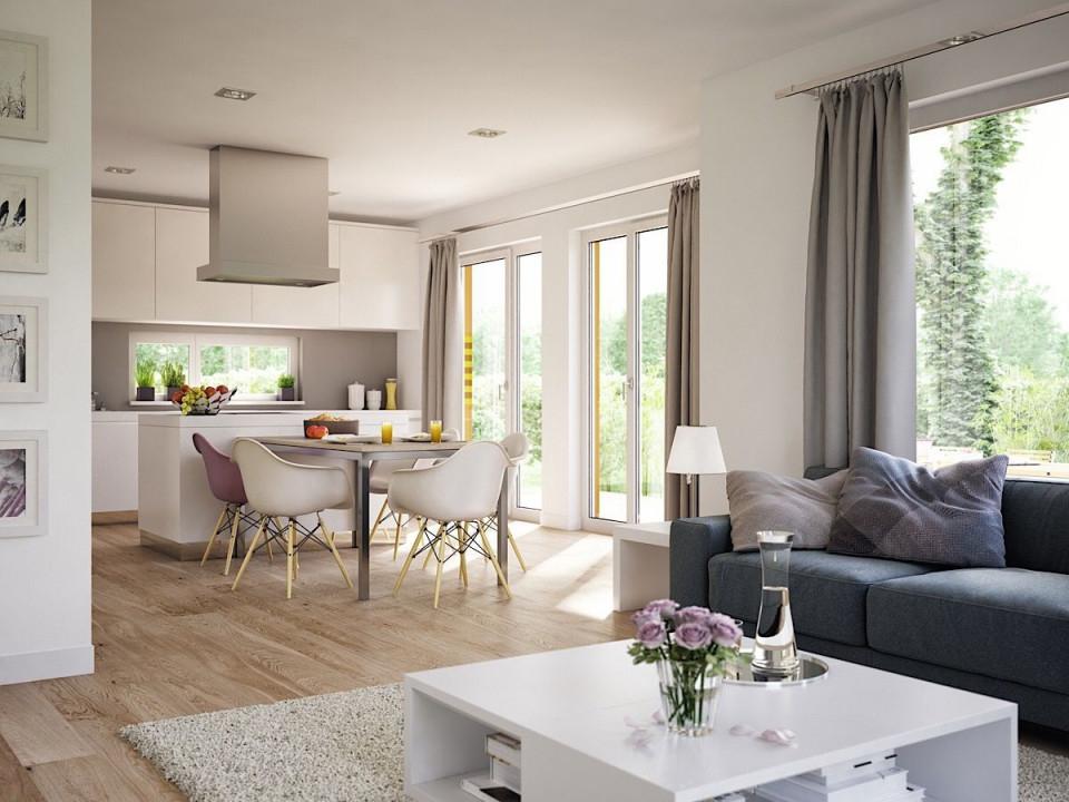 Wohnzimmer Ideen Modern Mit Offener Küche  Essbereich von Inneneinrichtung Ideen Wohnzimmer Bild