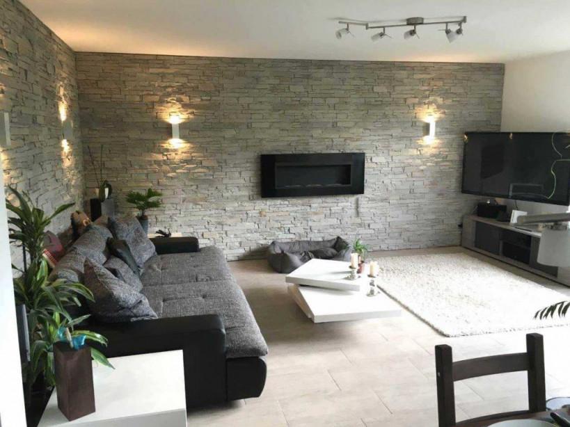 Wohnzimmer Ideen Wandgestaltung Stein Das Beste Von 40 von Wohnzimmer Ideen Mit Steintapete Bild